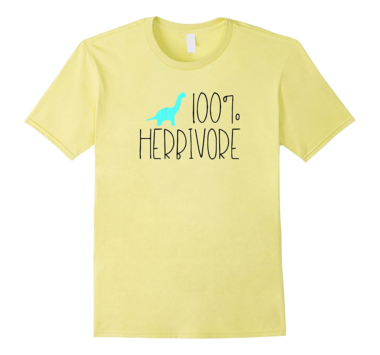100% Herbivore Dinosaur Shirt Vegetarian Vegan Graphic Tee-RT