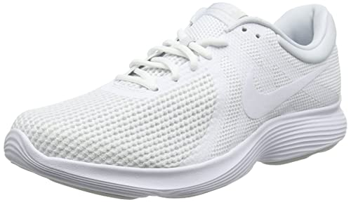 best website ccd36 0ebee Nike Men s Revolution 4 EU Running Shoes, White Pure Platinum 100, ...