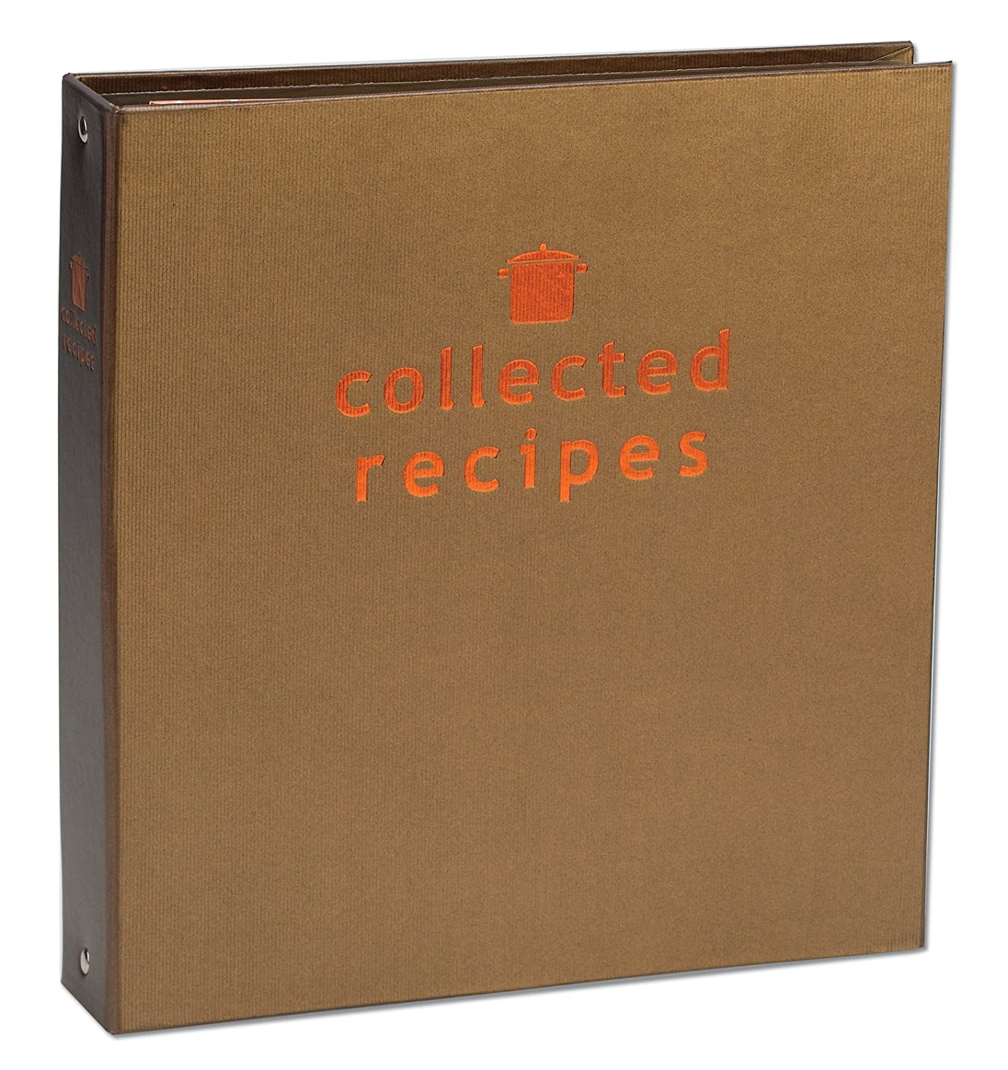 Meadowsweet Kitchens Create Your Own Collected Recipes Cookbook - Brown & Copper