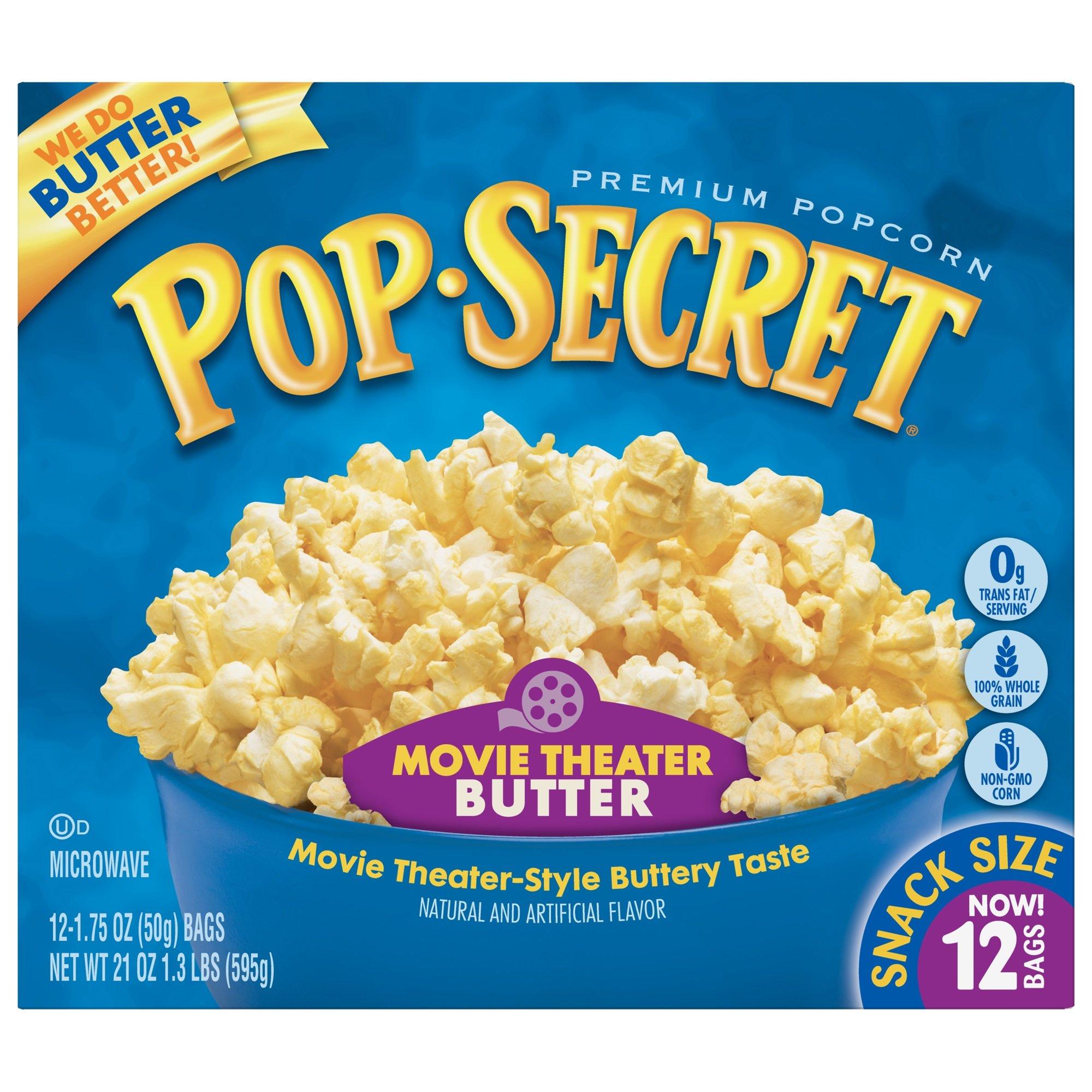 Pop Secret Popcorn, Snack Size Movie Theater Butter,12 Count, 12 Ct