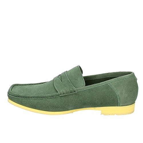 CESARE PACIOTTI Mocasines Hombre Gamuza Verde 44 EU: Amazon.es: Zapatos y complementos