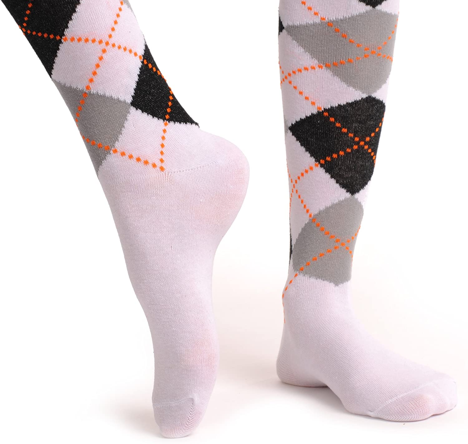 Argyle White and Grey and Black SO000616