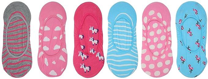Foxbury Ladies Multipack of Invisible Liner Socks UK 4-7