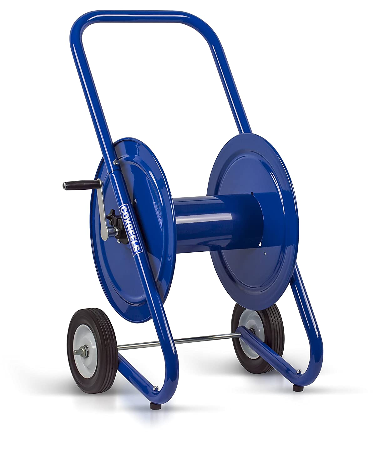 """Coxreels 117-4-225-DM Dolly-Mount Hose Reel with Wheels, 4,000 PSI, Holds 1/2"""" x 225' Length Hose, Hose Not Included, Blue"""