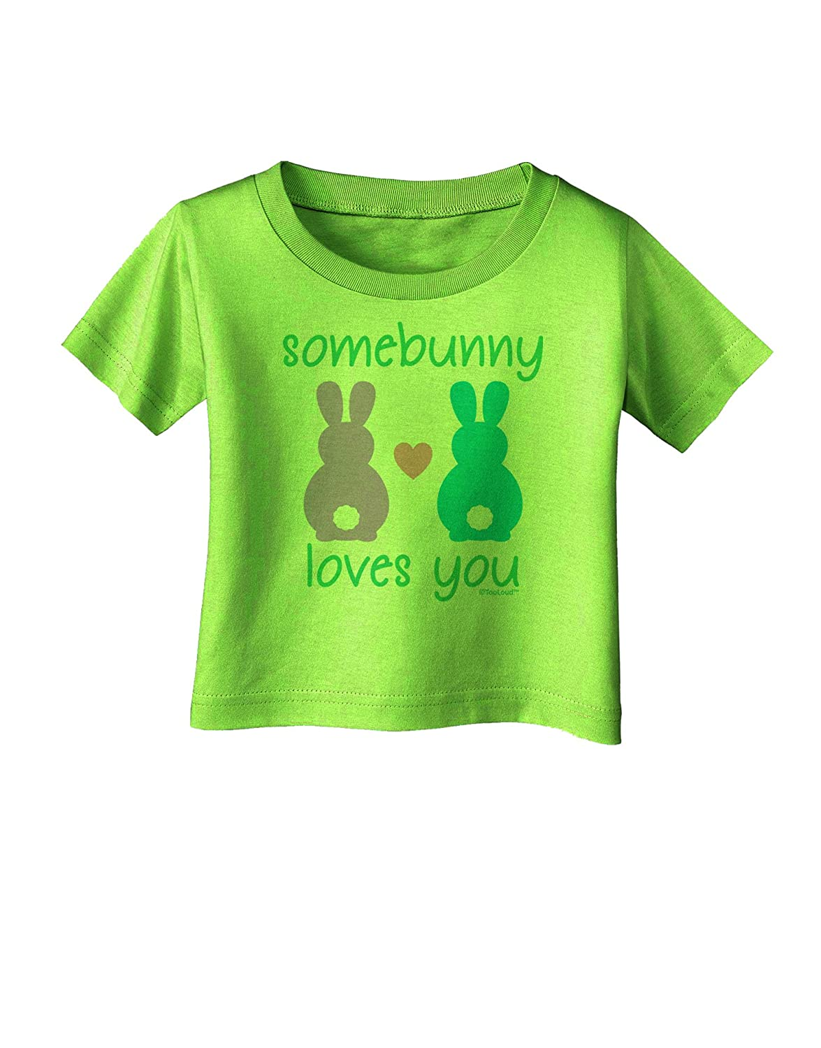 TooLoud Three Easter Bunnies Somebunny Loves Me Toddler T-Shirt Dark
