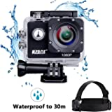Will-Win Action Camera1080p Sports Cam - 140°Wide Angle Lens Waterproof Action Camcorder with 11Mounting Accessories Kits, One head strap