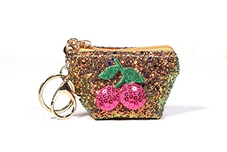 1b49ca67da2 WoWants Fashion Coin Purse,Change Purse with Key Ring Holder Small Cute  Coin Pouches (Gold)