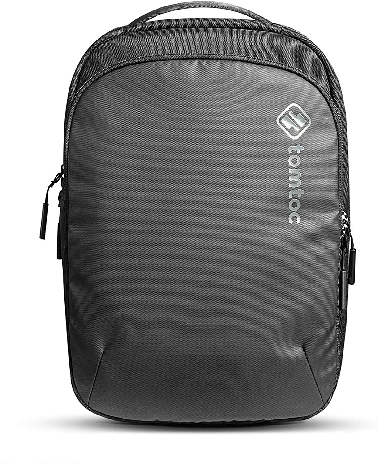 tomtoc Slim Cordura Nylon Laptop Backpack with CornerArmor Protection, Lightweight Business Backpack for up to 16-inch MacBook Pro, Water-resistant College School Knapsack, 15L