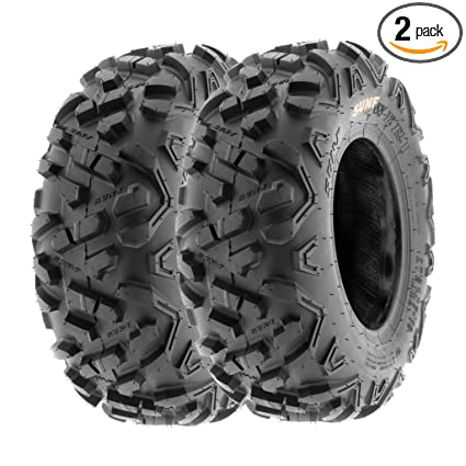 SunF 145/70-6 145/70x6 ATV UTV A/T Mud Replacement 6 PR Tubeless Tires A051  POWER II, [Set of 2]