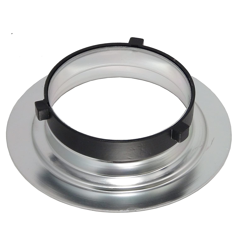 Beauty Dish DynaSun S40-BOW 40cm Plato de belleza Blanco/Plateado para Bowens con Rejilla y Panel difusor para Foto y Video de Estudio: Amazon.es: ...
