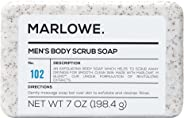MARLOWE. No. 102 Men's Body Scrub Soap 7 oz | Best Exfoliating Bar for Men | Made with Natural Ingredients | Green Tea Extrac