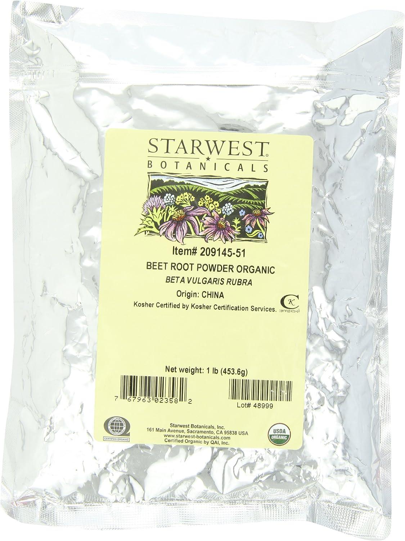Starwest Botanicals Beet Root Powder, 1-Pound (210506-51)