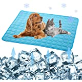 Pet Products Cool Mat-Dog Cooling Mat Summer Pet Cooling Pads, Ice Silk Cooling Mat for Dogs & Cats, Portable & Washable Pet