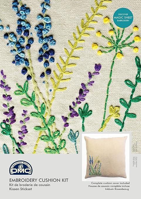 Amazon Com Dmc Embroidery Cushion Kit Meadow Sweet Wild Flowers