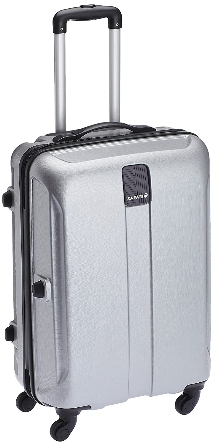 Safari Thorium Polycarbonate 77 cms Silver Hardsided Suitcase (Thorium-Stubble-Silver-77-4WH)