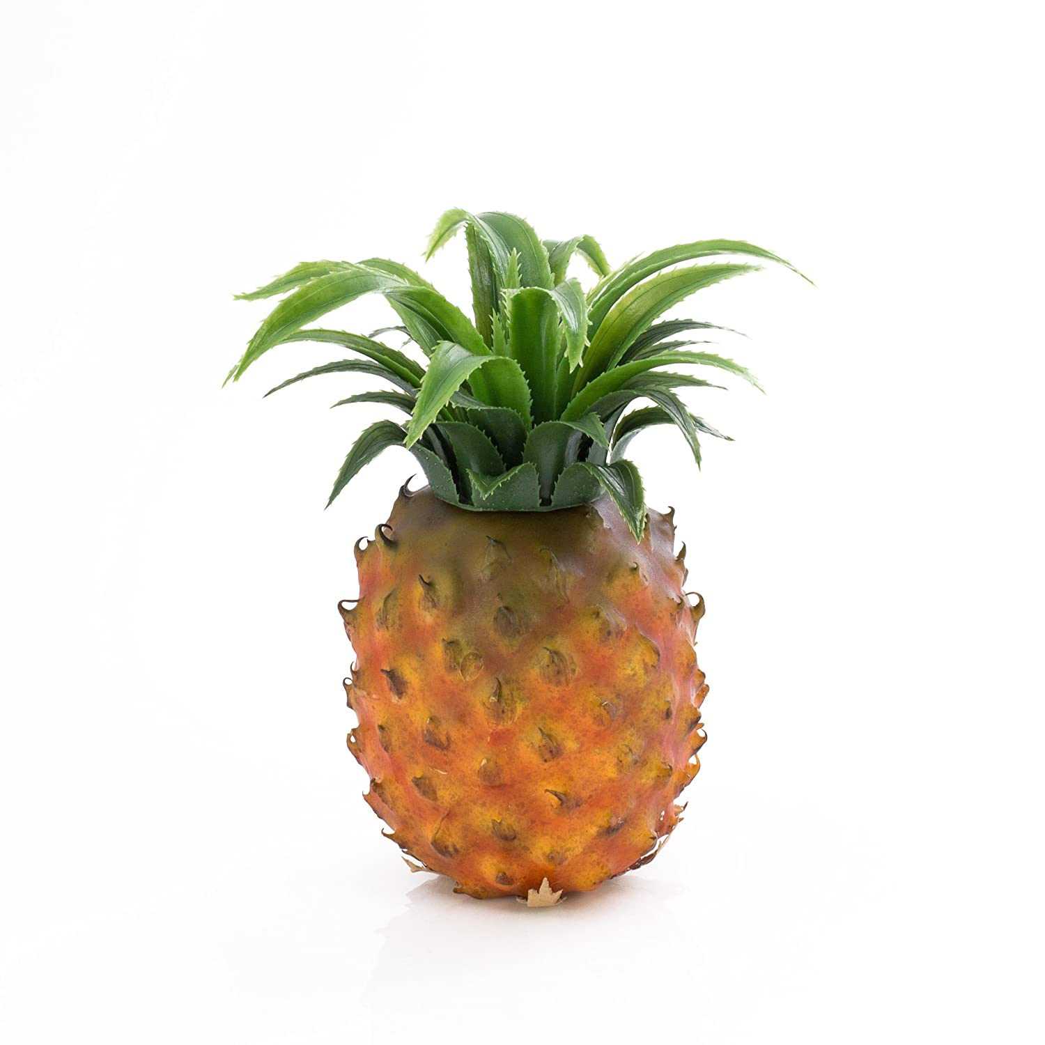 artplants - Plastic Pineapple, orange-brown, 6