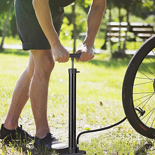 Ventil-Adapter Schlauchhalter Hochdruck-Luftfahrradreifen Schwarz One Size PDFF Fahrradpumpe Boden Klassisch Autopumpe