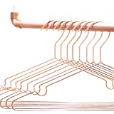 Rod Knot Design Kleiderstange Aus Kupfer Und Weißem Baumwollseil