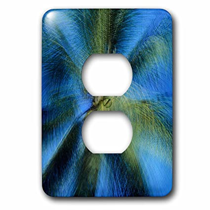 Palm tree outlet receptacle cover