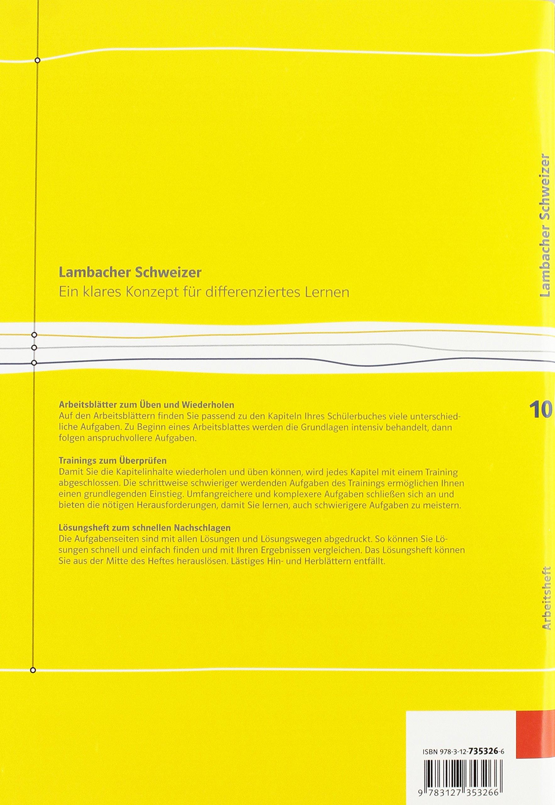 Lambacher Schweizer Mathematik 10. Ausgabe Baden-Württemberg ...