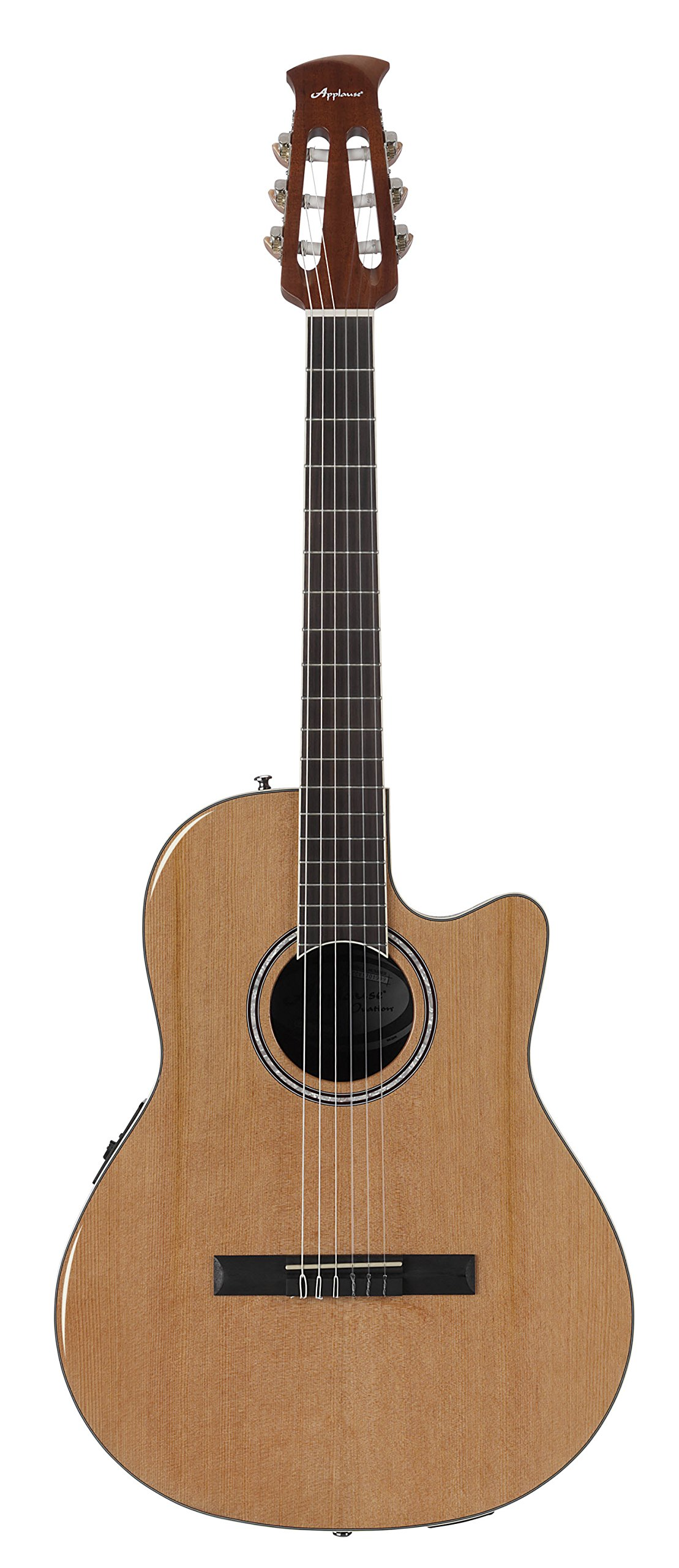 Ovation Cutaway Guitar Applause Balladeer Plus Nylon String Acoustic Electric by Ovation