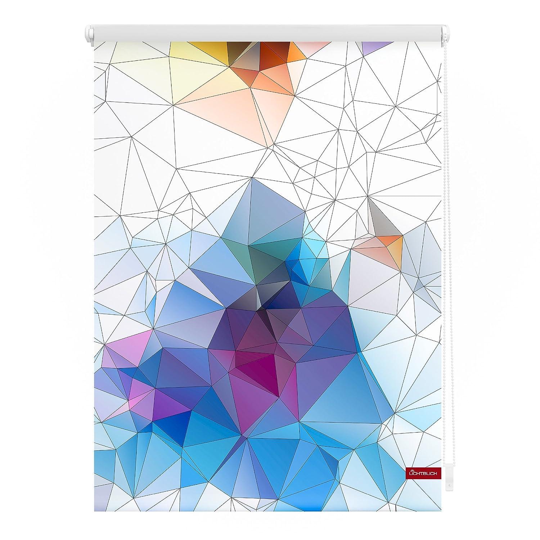 Lichtblick KRT.080.150.351 Rollo Klemmfix, ohne Bohren, blickdicht, Grafik - Bunt Bunt 80 x 150 cm (B x L)