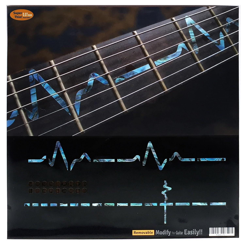 Fretboard Markers Inlay Sticker Decals for Guitar - EKG Line-AB jockomo F-031EK-BL