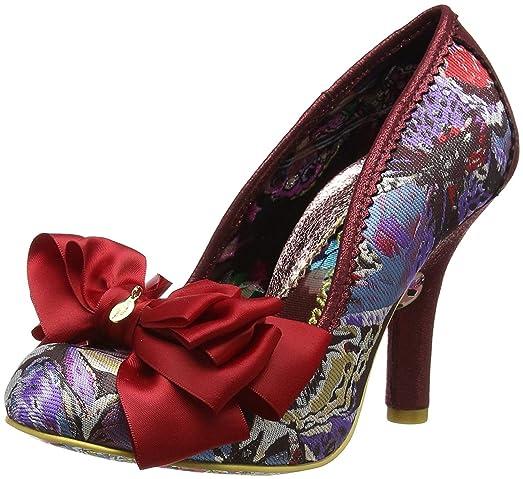 Ascot Zapatos de Tacón Mujer, Rojo (Red Multi), 40 (6.5 UK) Irregular Choice
