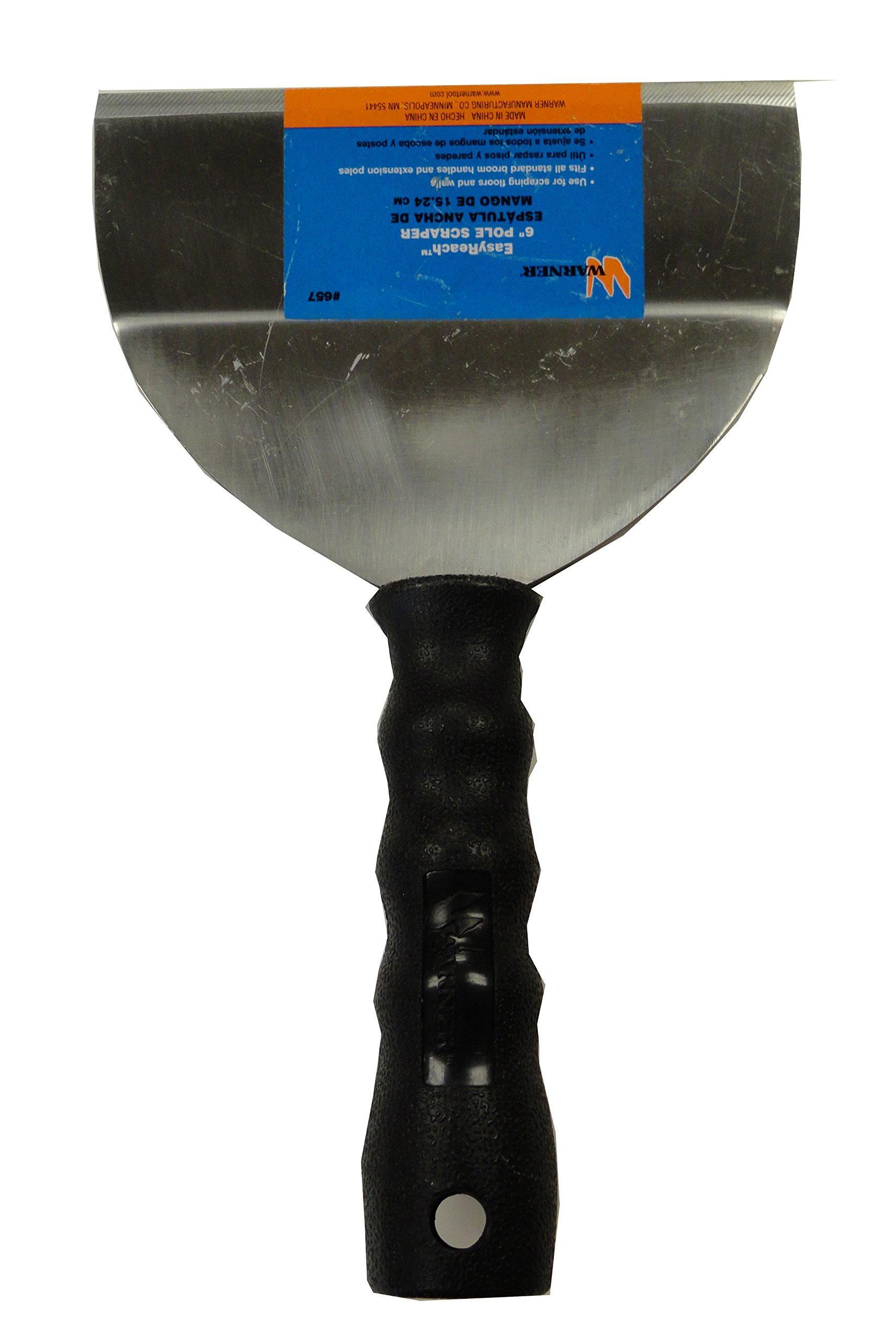 Warner 6'' Easy Reach Bent Scraper, 0.06'' Carbon Steel Blade, 657