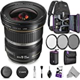 Canon EF-S 10-22mm f/3.5-4.5 USM Lens w/Advanced Photo and Travel Bundle - Includes: Altura Photo Sling Backpack, UV-CPL-ND4, Neoprene Lens Pouch, Camera Cleaning Set