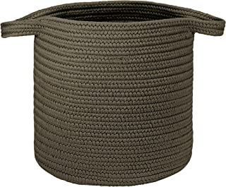 """product image for Colonial Mills Farm Braided Hamper Laundry, 16""""x16""""x20"""", Charcoal"""