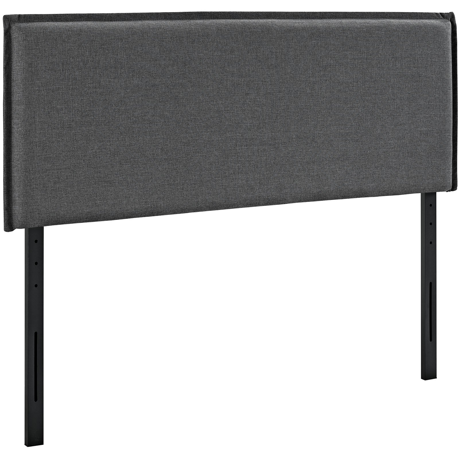 Modway Camille Upholstered Fabric Headboard Full Size With French Seam Stitching In Gray