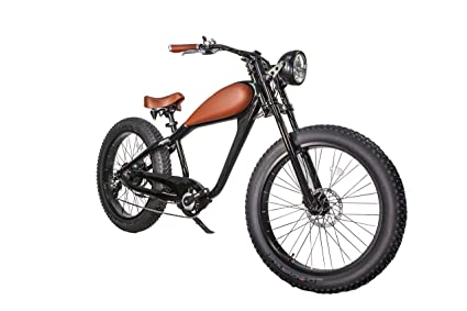 78d900c8073 CIVIBIKES 48V 750W Bafang Cheetah Beach Cruiser Electric Bike  (Black/BROWNLEATHER)