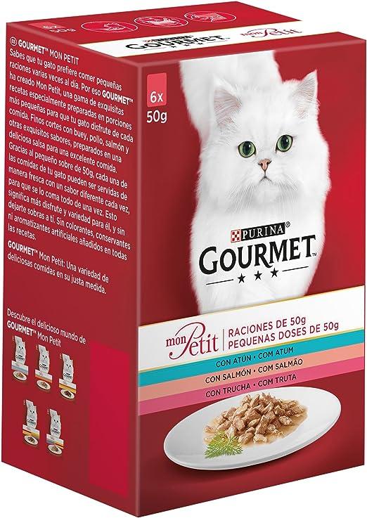 Oferta amazon: Purina Gourmet Mon Petit comida para gatos con Atún, Salmón y Trucha 8 x [6 x 50 g]