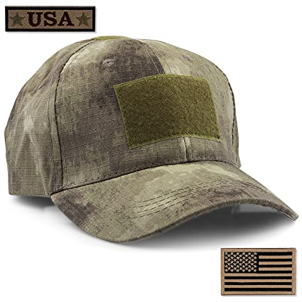a415f9210ca STEVEN G Tactical Military Hat Adjustable Baseball Cap 6 Vent Holes USA  Flag for Hunting Fishing Hiking Outdoor Life Men Women Teens Fits Most Head  Sizes 2 ...