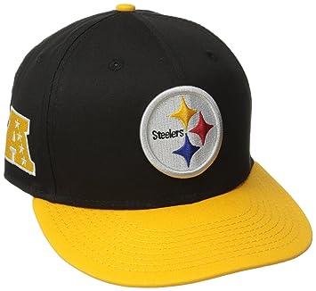 newest bb443 658d6 New Era NFL Pittsburgh Steelers Baycik Snap 9Fifty Snapback Cap,  Small Medium, Black