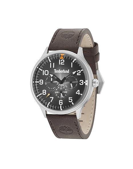 Timberland Reloj Multiesfera para Hombre de Cuarzo con Correa en Cuero 15270JS/02: Amazon.es: Relojes