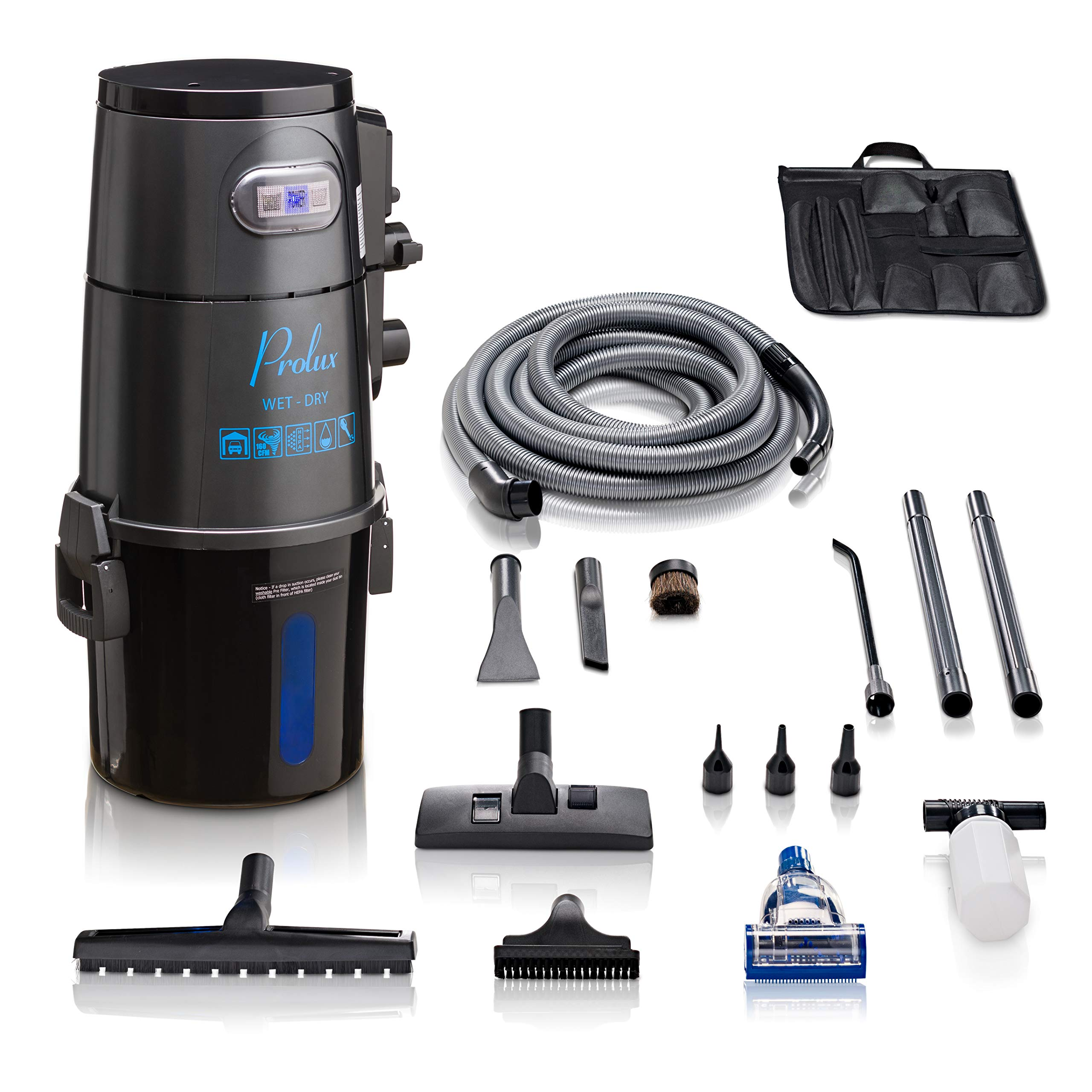 Prolux Professional Shop Grey Wall Mounted Garage Vac Wet Dry Pick Up by Prolux