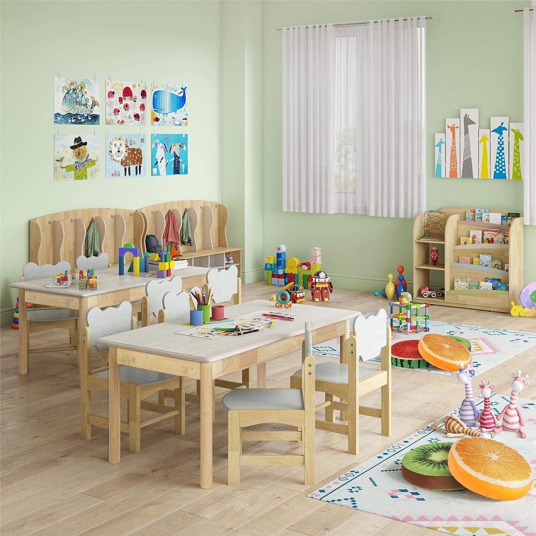 Gray Bertini Kids Bear Chairs 2-Pack Natural