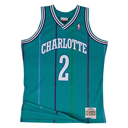 8bcc27faf11 Larry Johnson Charlotte Hornets Mitchell   Ness NBA Throwback Jersey - Teal