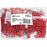 Herlitz 791855 Gewinnlose nummeriert 1-500, 10x50 Stück, Farbe rot