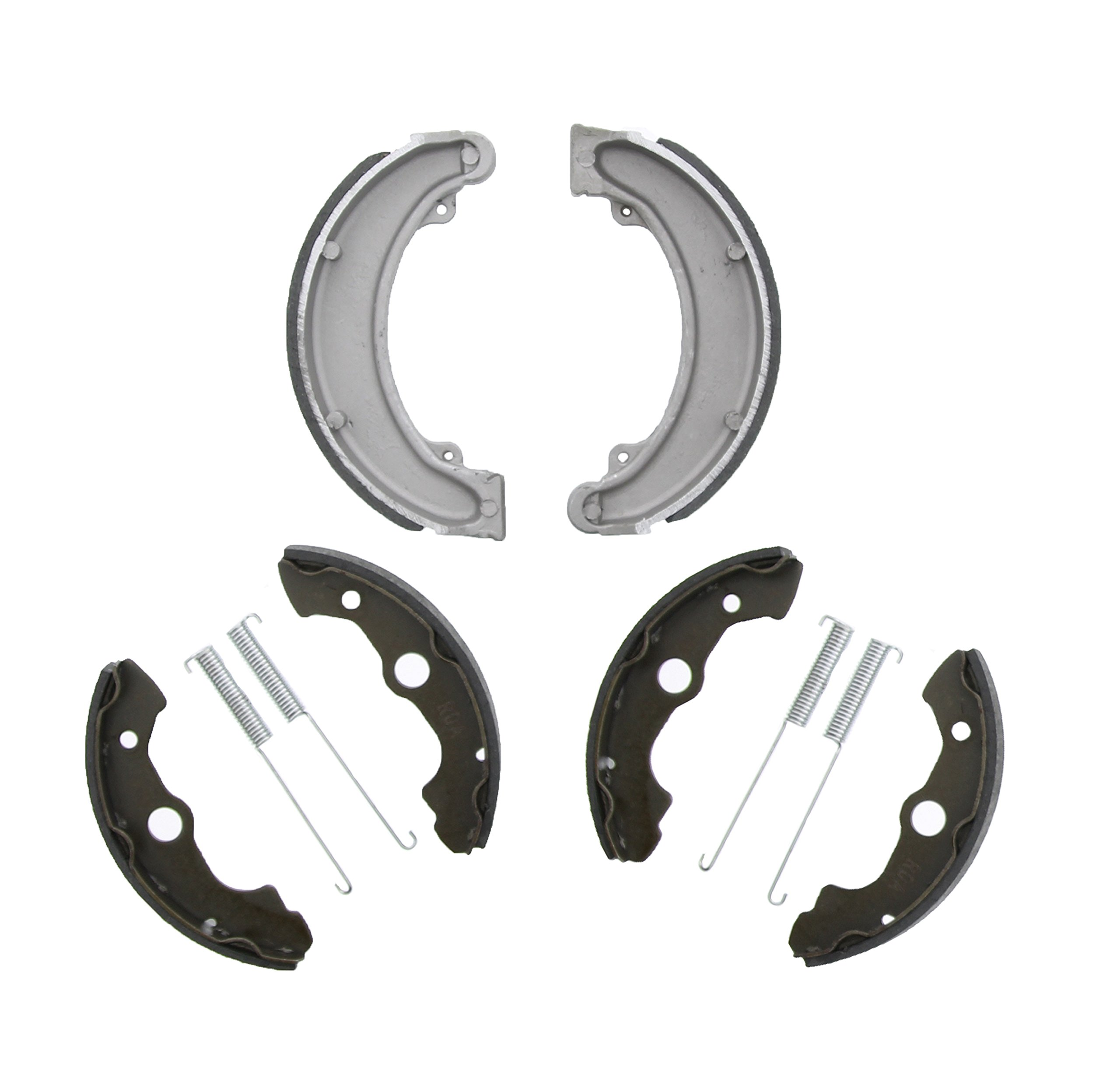 Race Driven Honda OEM Replacement Front and Rear Brake Shoes Brakes for FourTrax 300 TRX300 TRX300FW