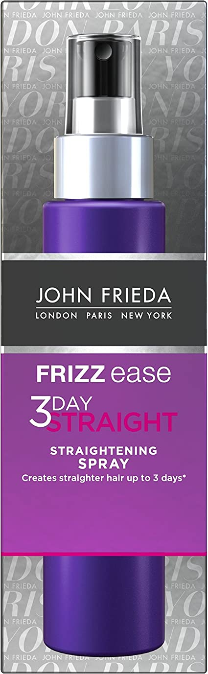 John Frieda Frizz Ease 3 Day Straight Semi Permanent Hair Straightening Styling Spray for Frizzy Hair, 100 ml