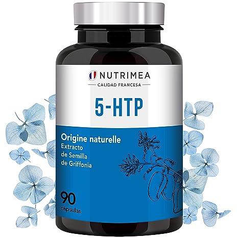 5HTP Triptofano, 300mg por día 5 HTP, Extracto Puro Semilla de Griffonia Simplicifolia, Aminoácido Mejora el Sueño,Reduce Estrés Ansiedad Insomnio, ...