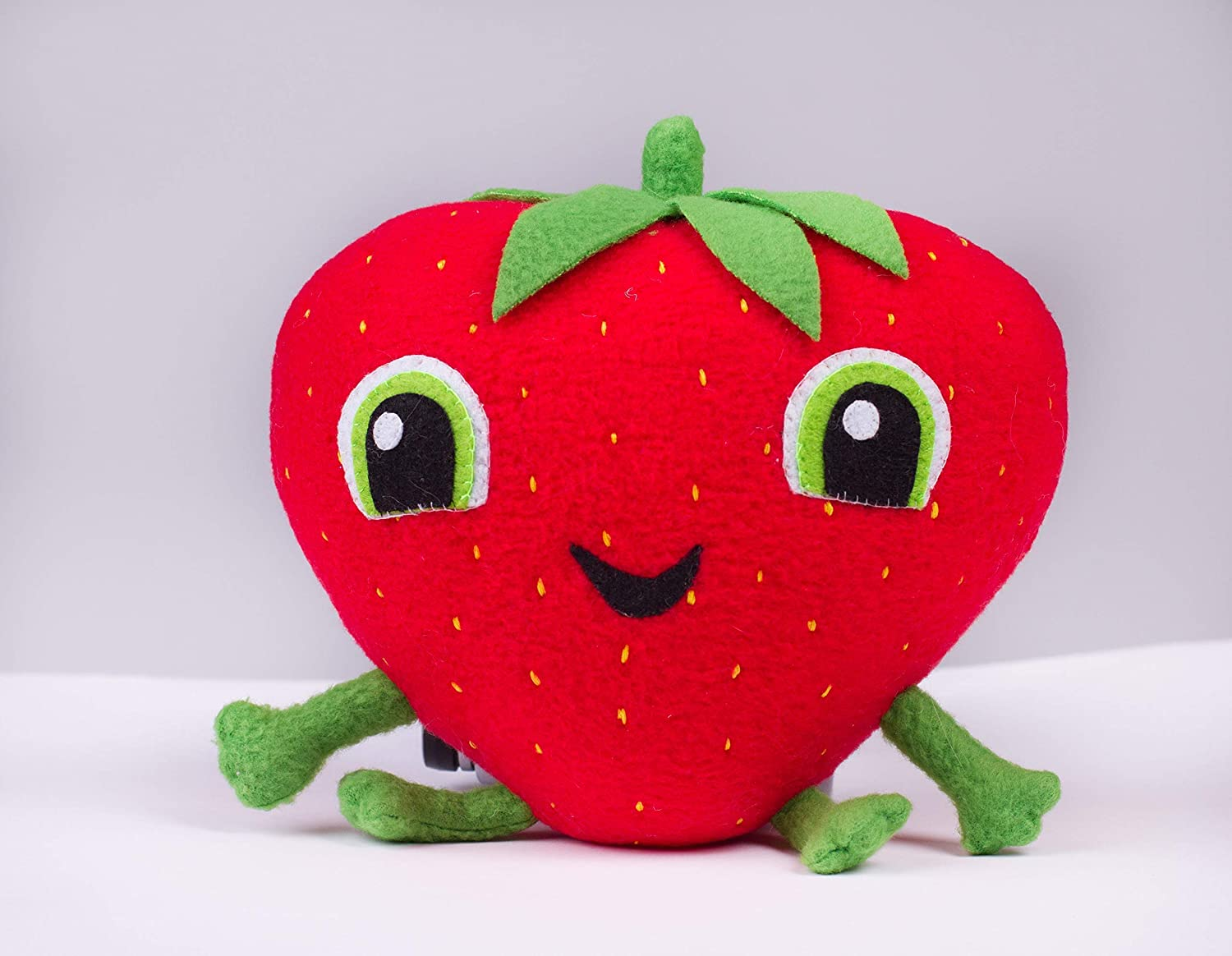 inspired by Cloudy with a Chance of Meatballs Barry the Strawberry plush handmade plush toy