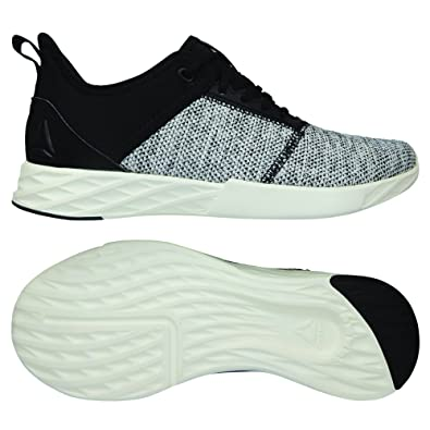 bbea4488d55a55 Reebok Women s Astroride Edge Knit-Black Chalk Running Shoes-4 UK India