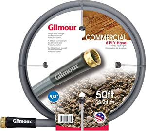 Gilmour 29 Series 6 Ply Commercial Rubber/Vinyl Hose 5/8 Inch x 100 Feet 29-58100 Gray