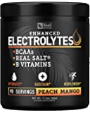 Enhanced Electrolyte Powder (Peach Mango | 90ct.) Sugar Free + BCAA, B-Vitamins & Real Salt® - Keto Electrolytes Drinks…