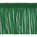 Expo International 10 Yards of 2 Chainette Fringe Trim Emerald 10 yd x 2