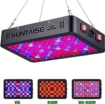 Sunraise 1000-Watt LED Full Spectrum Grow Light With Daisy Chain